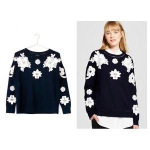 VICTORIA BECKHAM FOR TARGET navy floral sweatshirt